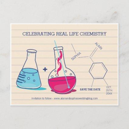 Pink and Blue Save the Date Chemistry s