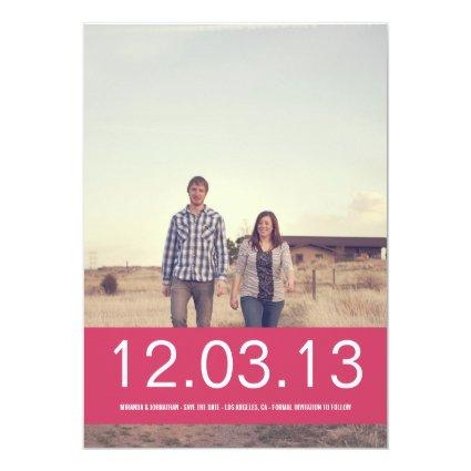 Pink Banner Photo Save The Date Announcements