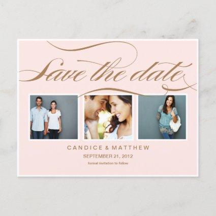 PINK ELEGANCE   SAVE THE DATE ANNOUNCEMENT