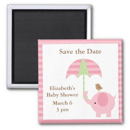 Pink Elephant Save the Date Magnets
