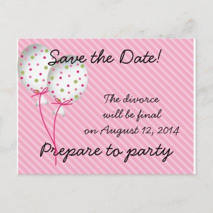 Pink Striped Celebrations Announcement