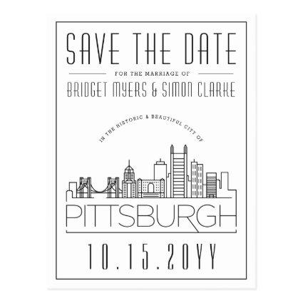 Pittsburgh Wedding Stylized Skyline