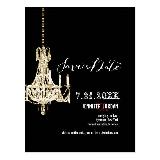 PixDezines chandeliers/gold trim/save the date Cards