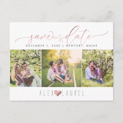 PixDezines DIY color/Save our Date/Faux Rose Gold Announcements Cards