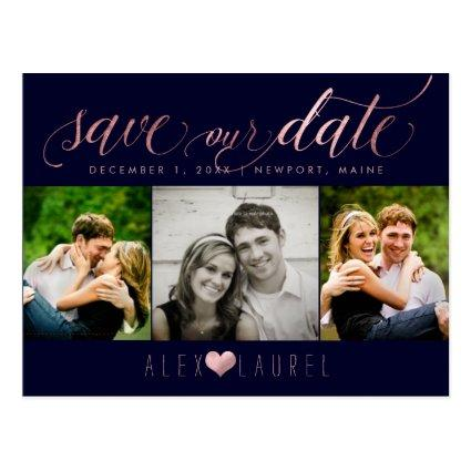 PixDezines DIY color/Save our Date/Faux Rose Gold Cards