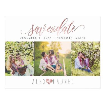 PixDezines DIY color/Save the Date/Faux Rose Gold Cards