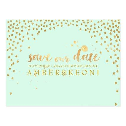 PixDezines faux gold/confetti/save date/DIY color Cards