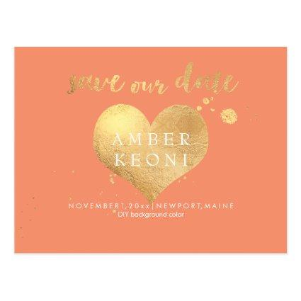 PixDezines faux gold heart/save date/DIY color Cards