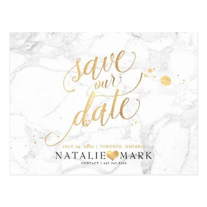 PixDezines Faux Gold/Marble/Save our Date