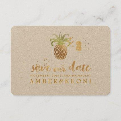 PixDezines Golden Pineapple/save our date Save The Date