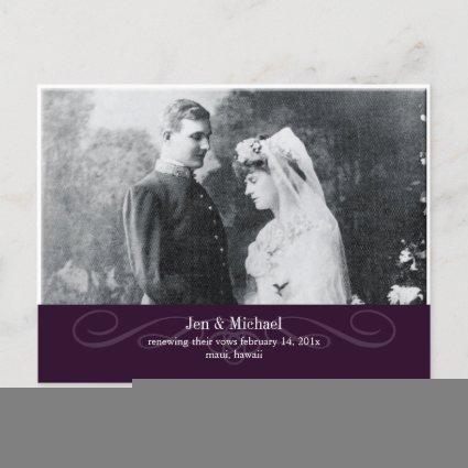 PixDezines Re-newing Vows, save the date/DIY color Announcements Cards