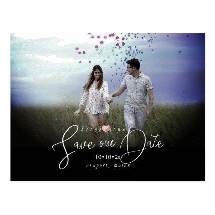 PixDezines Rose Gold Heart Save our Date