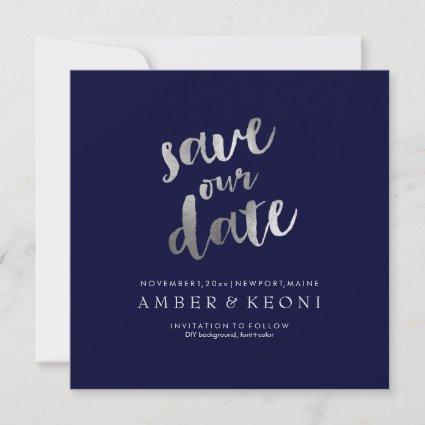 PixDezines Save Date/Faux Silver/DIY Background Save The Date