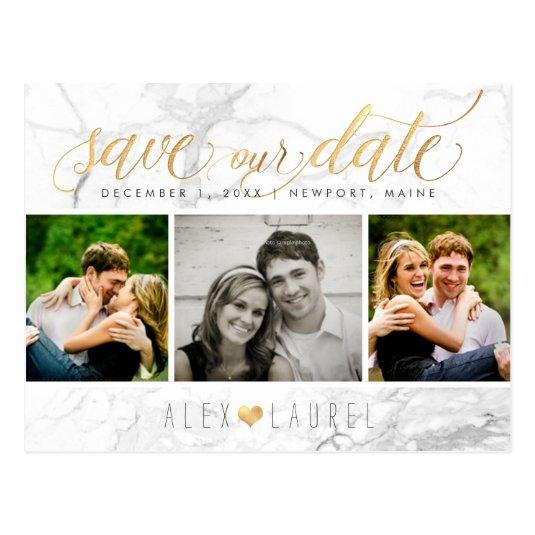 PixDezines Save our Date/Chic Faux Gold+Marble