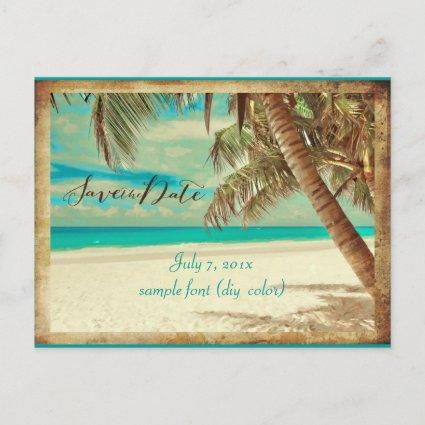 PixDezines SAVE THE DATE/VINTAGE HAWAII Announcements Cards