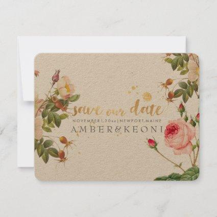 PixDezines vintage roses/save our date Save The Date