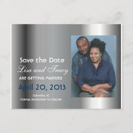 Platinum Save the Date Announcements Cards