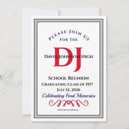 Please Join Us Invitation School or Class Reunion