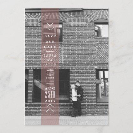 Plum Save The Date Banner | Overlay Photo