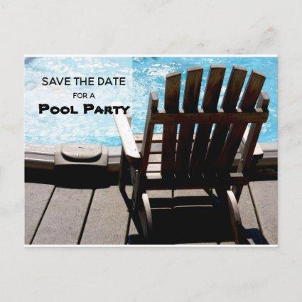 Pool Party Save The Date Invitation