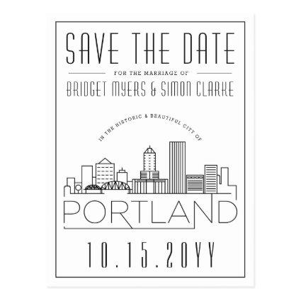 Portland Wedding | Stylized Skyline