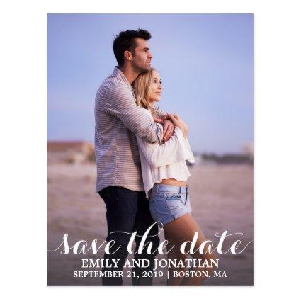 Portrait Photo Wedding Save The Date Cards