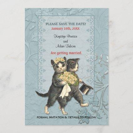 Posh Cats Wedding Save the Date
