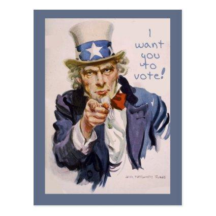 s to Voters UNCLE SAM November 6