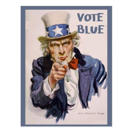 s to Voters UNCLE SAM Vote Blue