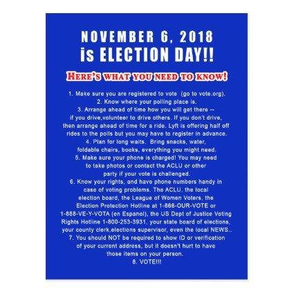 s to Voters VOTERS CHECKLIST November 6