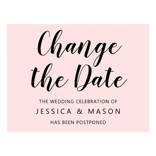 Postponed Wedding Announcement Change The Date