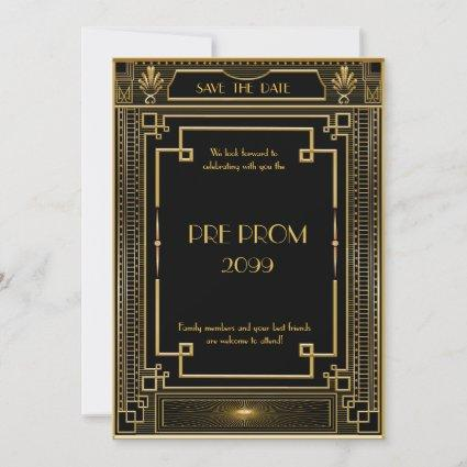 Pre PromJunior, Great , Gold,black Save The Date