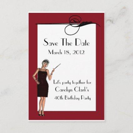 Pretty Art Deco Birthday Save the Date