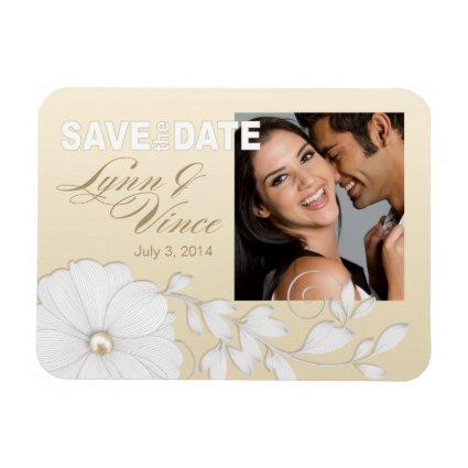 Pretty Embossed Posy Save the Date Magnets