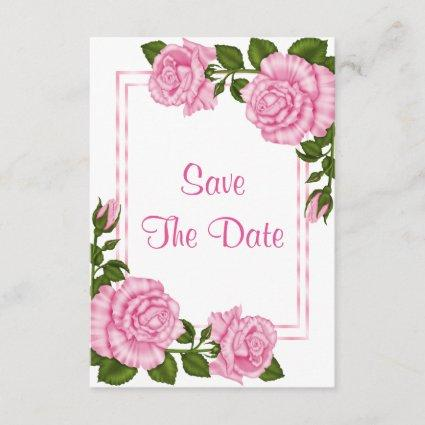 Pretty Pink Corner Bouquets 100th Save The Date