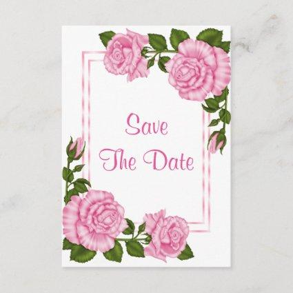Pretty Pink Corner Bouquets 60th Save The Date