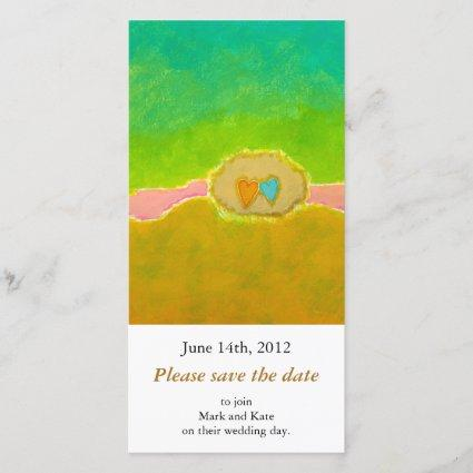 Pretty whimsical wedding art Summer Love Protected Save The Date