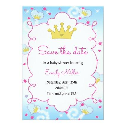 Baby Sprinkle Party Ideas Post Cards Save The Date Cards