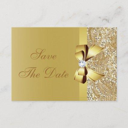Printed Gold Sequins Save the Date Baby Shower