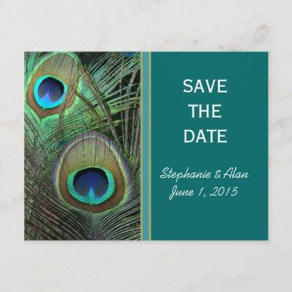 Proud Peacock Save The Date Cards