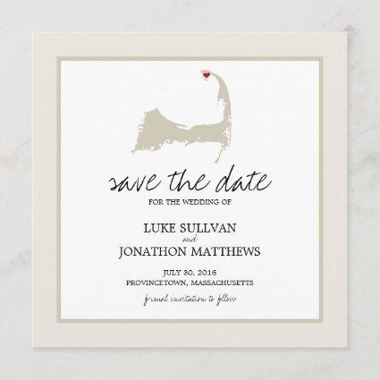 Provincetown Cape Cod Wedding Save the Date