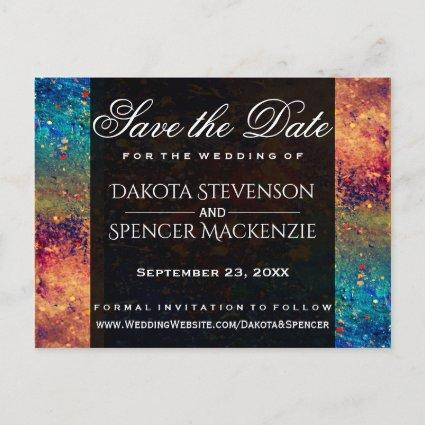 Psychedelic Splatter   Rainbow Save the Date Announcement