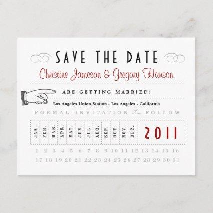 Punch Card Save the Date