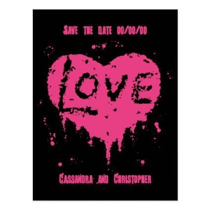 Punk love heart Cards