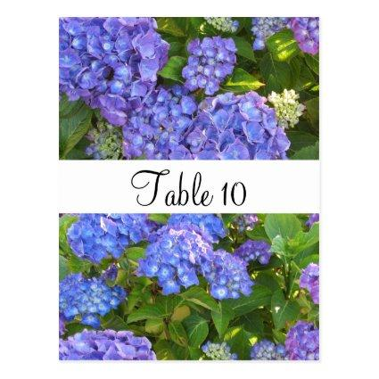 Purple Hydrangeas Special Occasion Table Cards