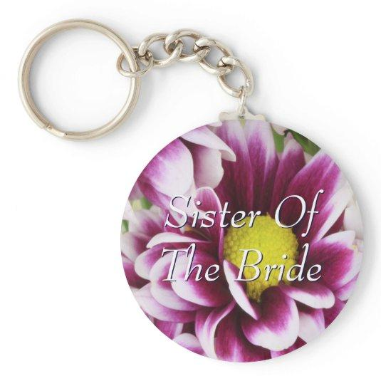 Purple Sister Of The Bride Bouquet Keychain