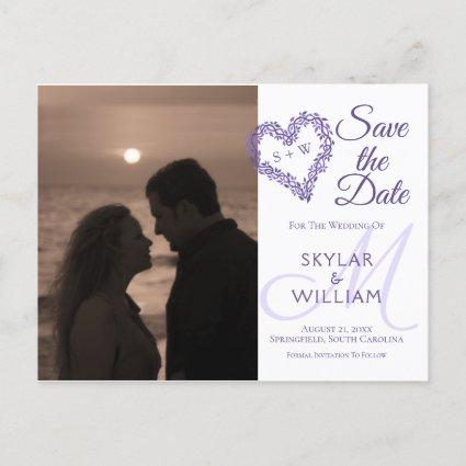 Purple Woodsy Wedding Save The Date Your Photo Invitation