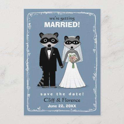 Raccoons Wedding Save the Date