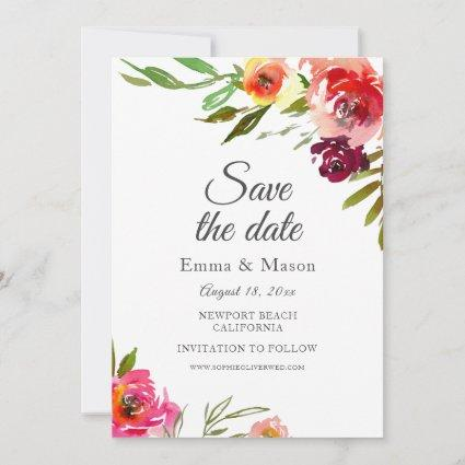 Radiant Romance Floral Save The Date