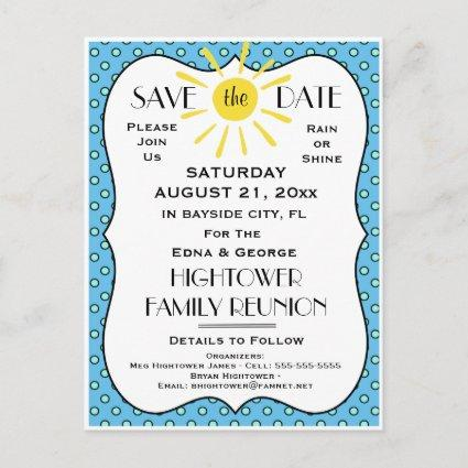 Rain or Shine Reunion,Party or Event  Announcements Cards